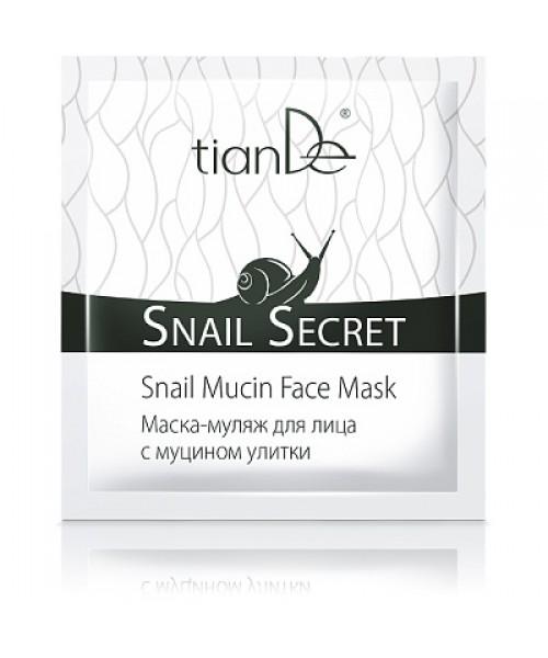 TianDe Kaukė - muliažas veidui su sraigių mucinu Snail Secret 1vnt