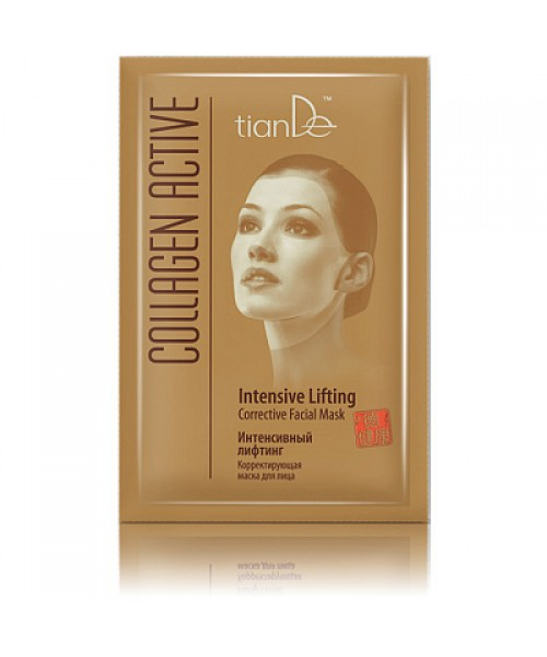 "TianDe veido kaukė, koreaguoja  "" Intensyvus liftingas"" iš Collagen Active 1vnt."