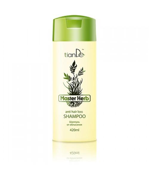 """tianDe šampūnas nuo plikimo """" Master Herb"""" slenkantiems, retėjantiems plaukams 420 ml"""